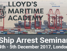 LMA Ship Arrest Seminar 2017