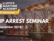 LMA Ship Arrest Seminar 2018